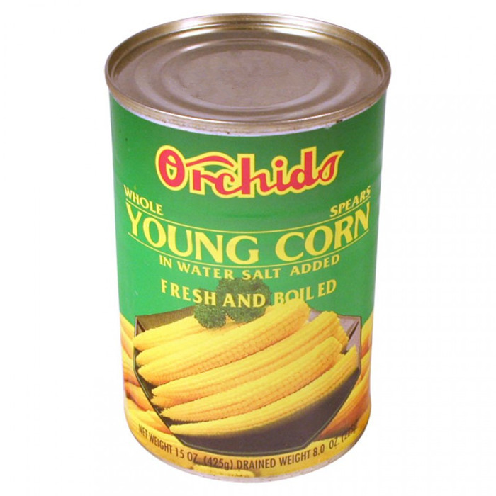 canned baby corn cut