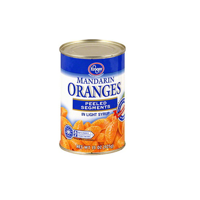 425g canned orange whole