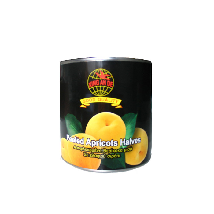 3000g canned apricots factory