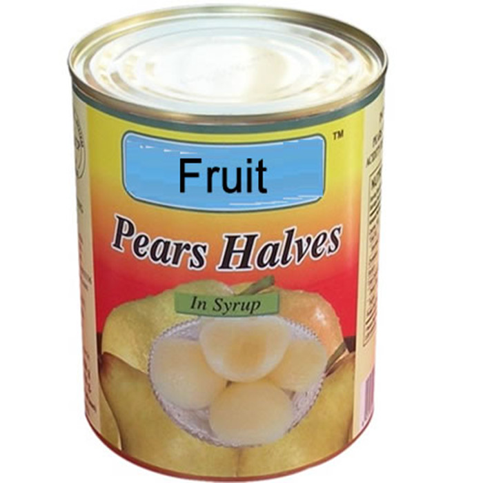 820g  canned pear halves