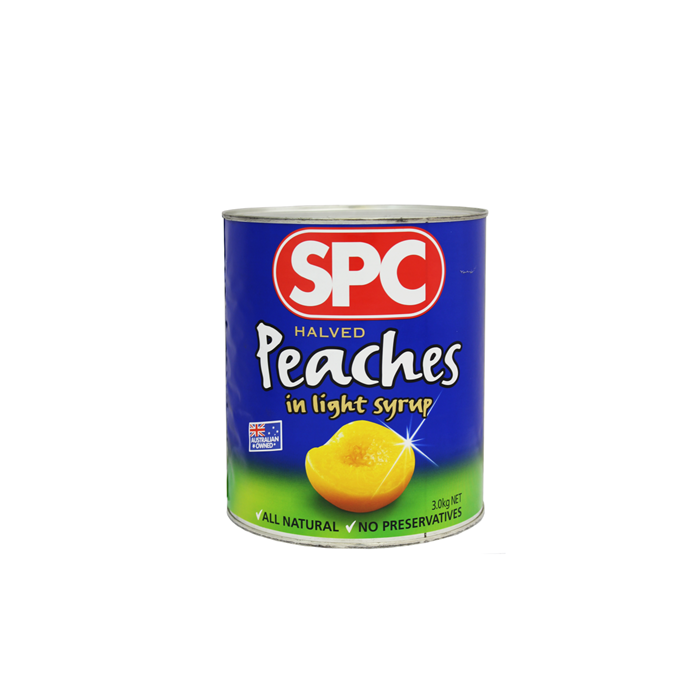 3000g canned peach in light syrup