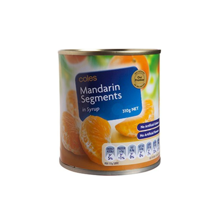 820g canned mandarin orange no sugar
