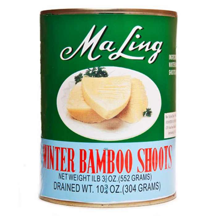 Canned bamboo shoots halves