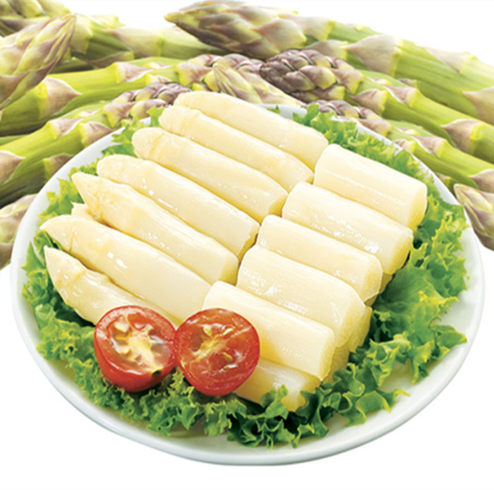 factory canned white asparagus