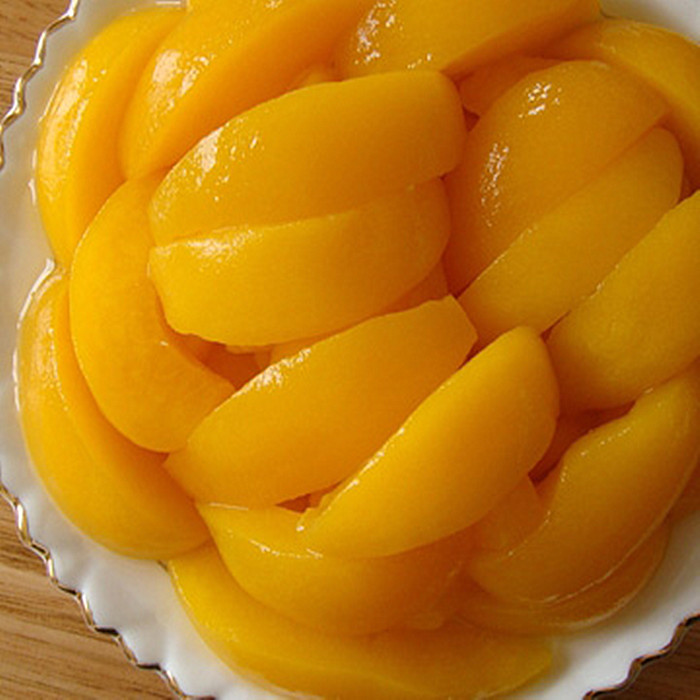 820g canned peaches supply chain
