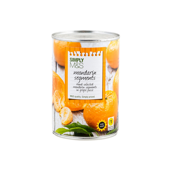 425g canned mandarin orange in light syrup