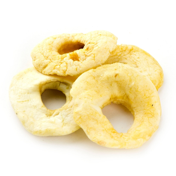 Dried apple ring dehydrated