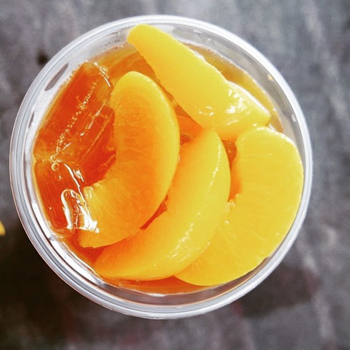 820g Canned peach irregular slices