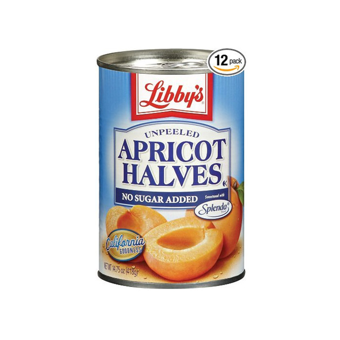 425g canned apricots havles