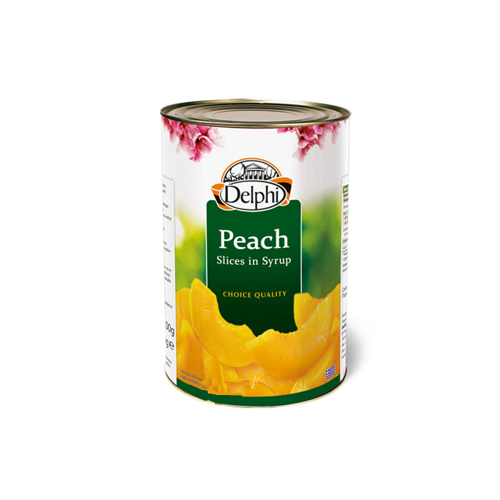 425g freshly made organic sliced peaches