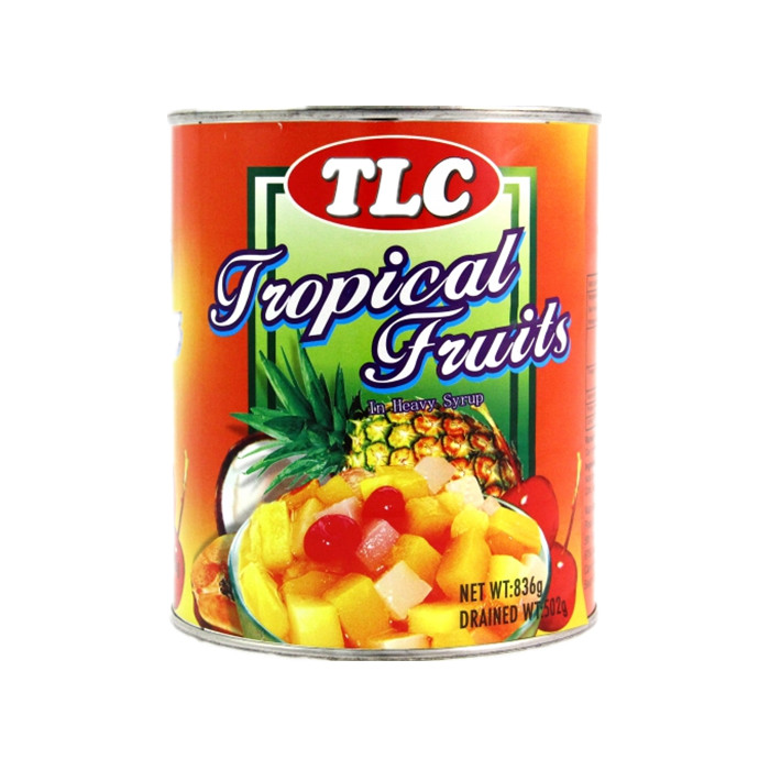 canned fruit cocktail in light syrup