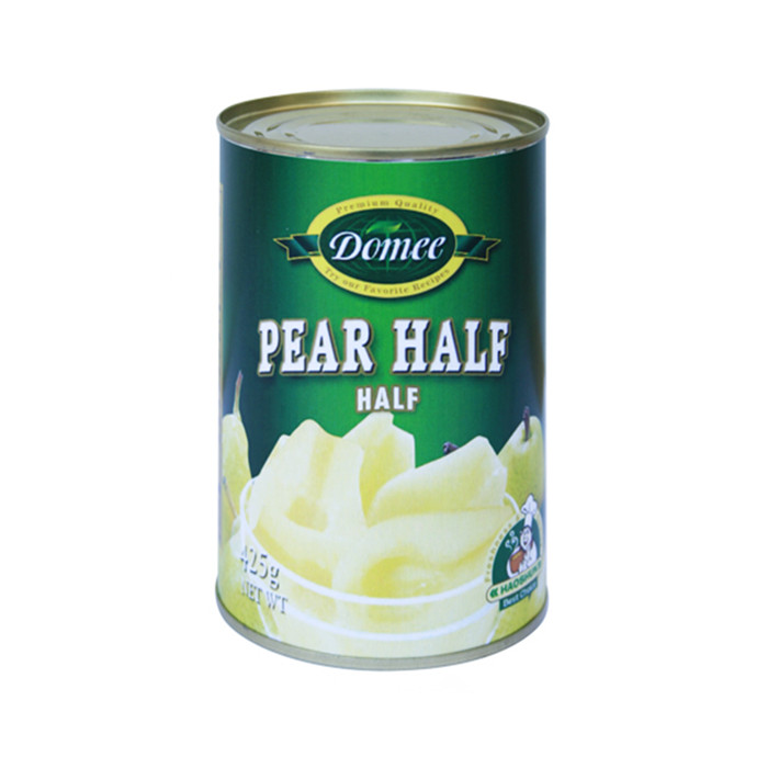 canned pear with HACCP