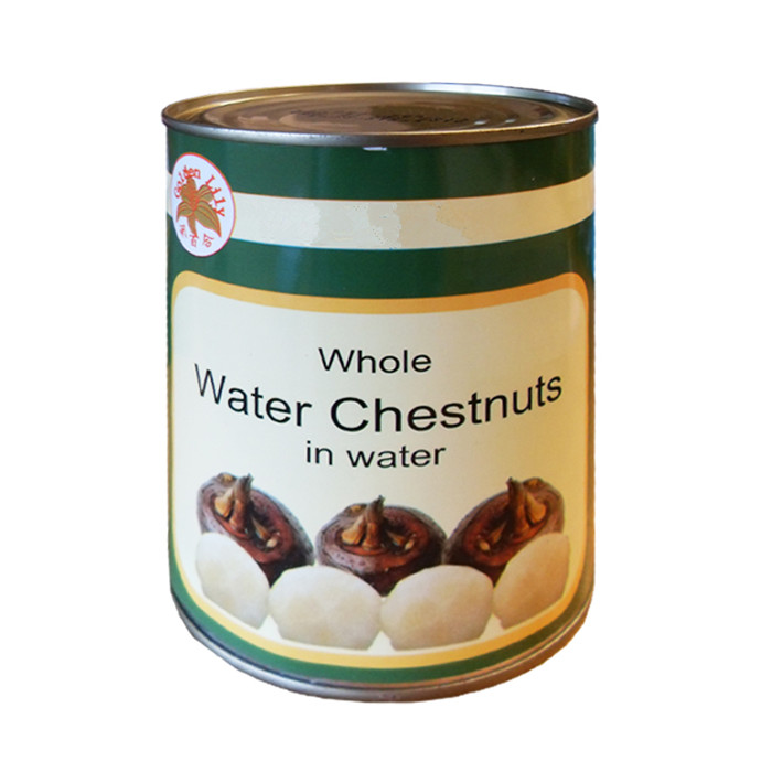canned water chestnut factory
