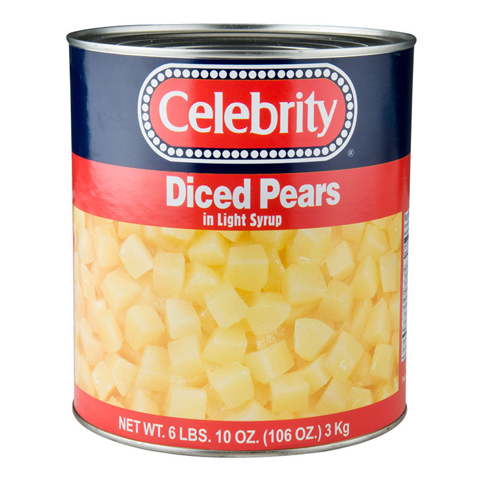 canned pear diced