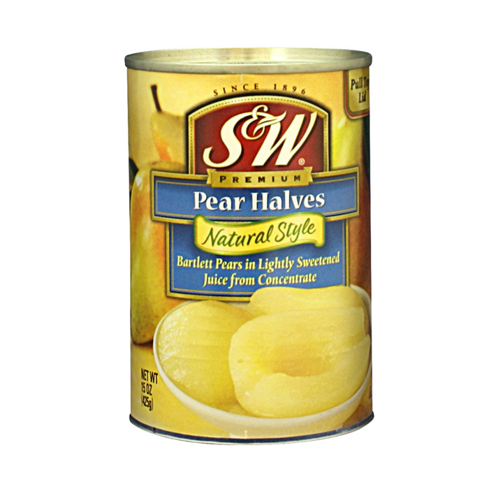 425g canned pear half in light syrup