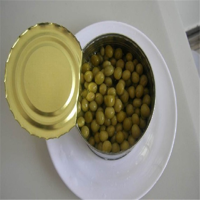 Canned green peas from China
