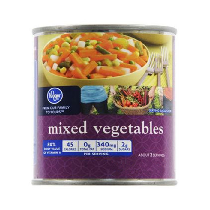 3000g canned mixed vegetables