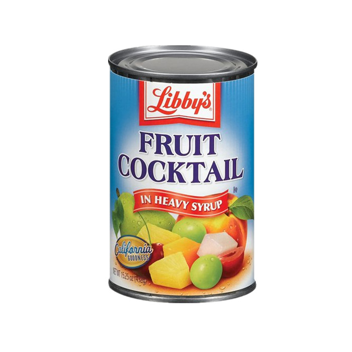 canned fruit cocktail in juice