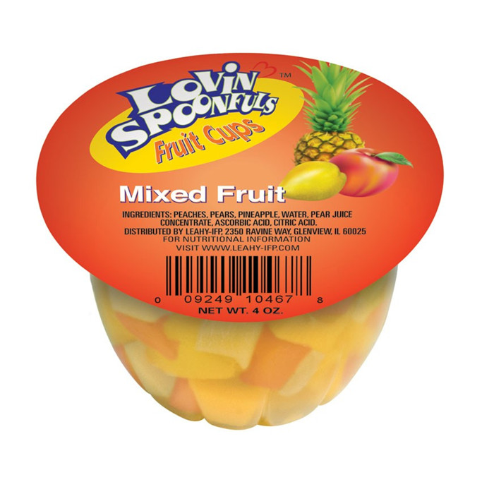 4oz fruit cups(canned fruit)