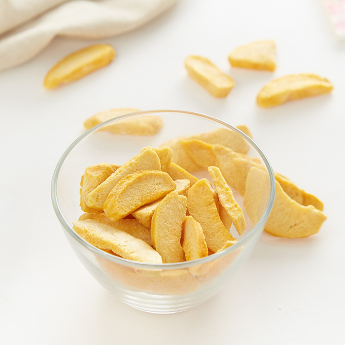 freeze dried peach sliced