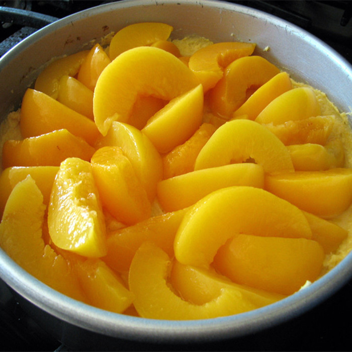 820g freshly made organic sliced peaches