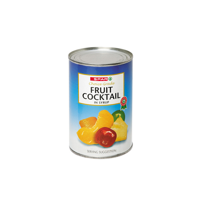 425g canned fruit cocktail in heavy syrup