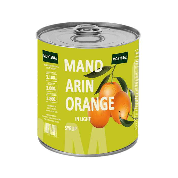 850g Fresh canned orange in syrup