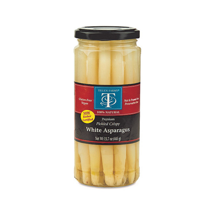 canned asparagus in glass