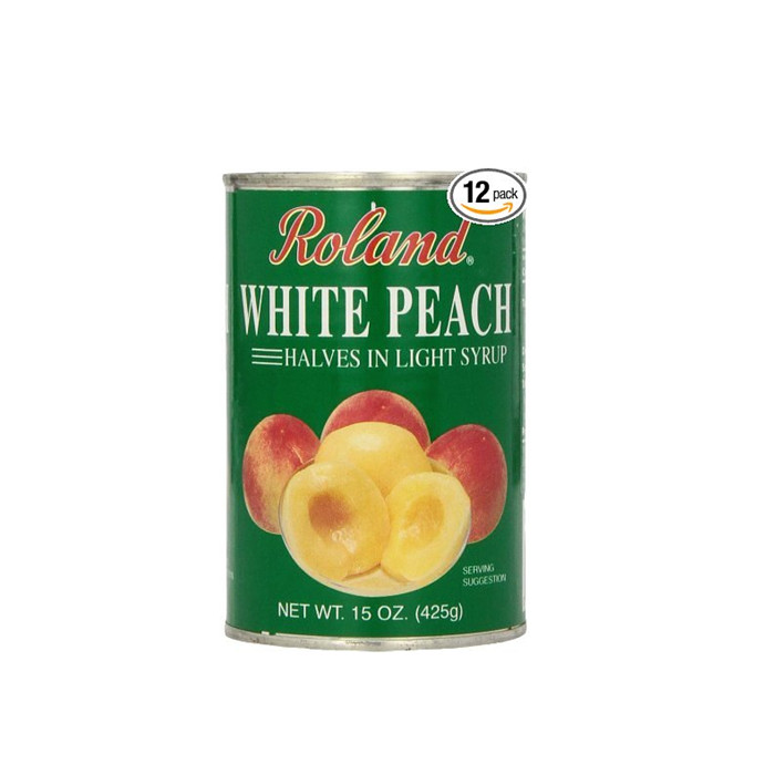 Canned peach irregular slices