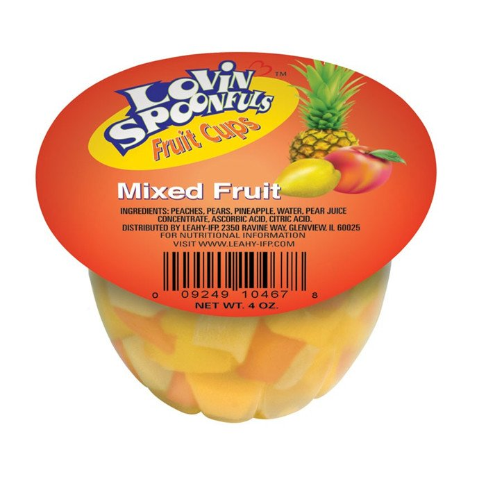 fruit cups(canned fruit)